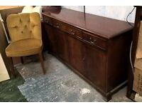 *FREE DELIVERY* Bradley Mahogany Sideboard Dresser ~ Vintage for Shabby Chic? (not oak pine welsh)