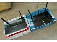 2 Wireless Dual Band WiFi Routers. Netgear & TP Link. AC1200 & N600. Great condition.
