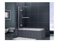 Bath Shower Screen. 8mm glass. Lifetime Warranty. NEW.
