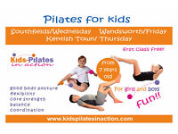 Posture issues? Get a free Pilates class for Kids. Wandsworth, Southfields or Kentish Town.