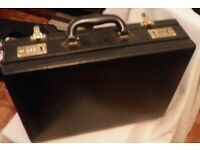 combination lock black briefcase
