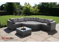 New Maze Rattan Deluxe Barcelona Corner Group – Grey £750 Retails at £1500 Free local delivery