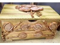 Wooden storage box. CHRISTCHURCH
