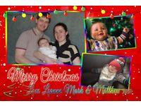 Personalised Christmas Postcards, Jumbo Fridge Magnets, Coasters, Elf Mission Prints, ideal gift