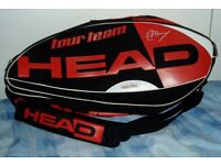 Andy Murray, HEAD, TENNIS SPORTS KIT BAG Takes ALL your Kit,COST OVER £100.
