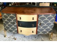 Black and Gold Sideboard