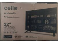 Brand new (unopened) 32 inch Cello Android Tv