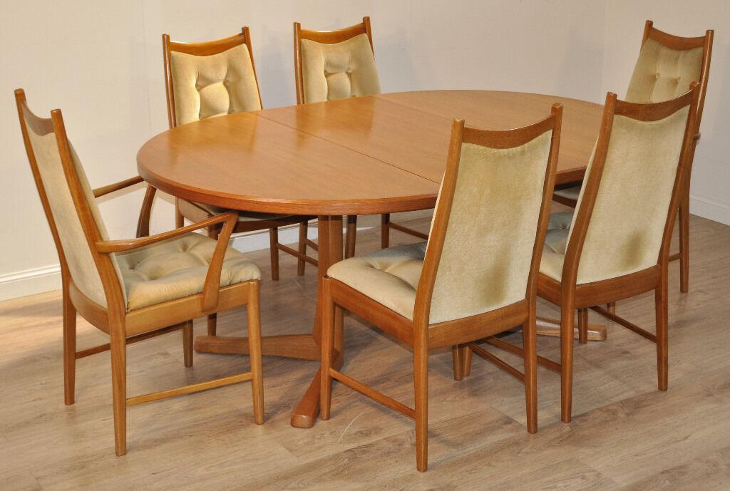 Superior Vintage Retro 60/70u0027s McIntosh Teak Circular Extending Dining Table U0026 6  Chairs