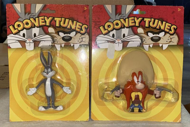 LOONEY TUNES BUGS BUNNY & YOSEMITE SAM BENDABLE FIGURES, NEW
