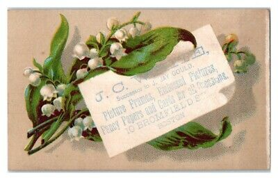 J.C. White, Picture Frames Papers Cards Boston Victorian Trade Card (Boston Trade Frames)