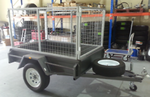 Brand New 6x4 Trailer With Cage, Jockey & Spare Wheel