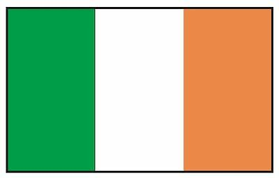 The Irish Flag (IRELAND Irish Flag Sticker MADE IN THE USA F235 CHOOSE SIZE FROM)