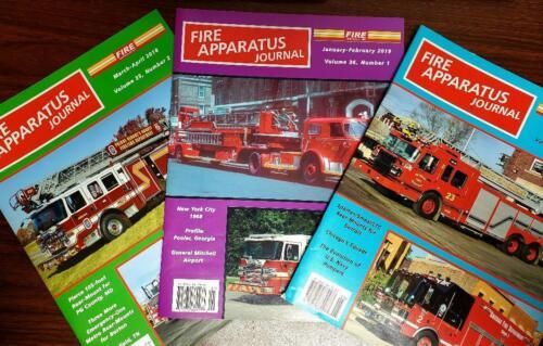 Fire Apparatus Journal Lot of 3 March-June 2018 Jan-Feb 2019 NEW