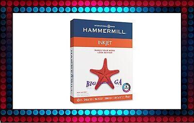 "Hammermill Inkjet Paper, 24lb, 96 Bright, 8 1/2 x 11"" - Ream"