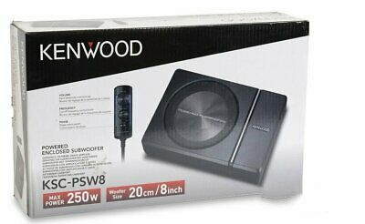 "Kenwood KSC-PSW8 250 Watts Single 8"" Under Seat Compact Powe"