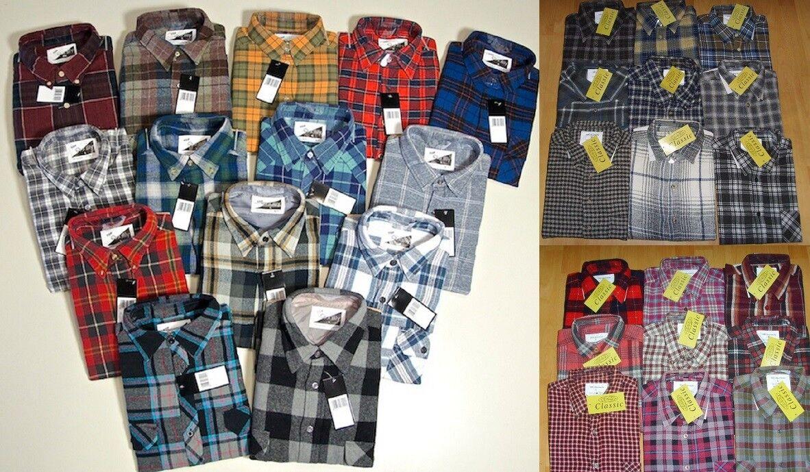 Herren Arbeits-Hemd Flanellhemd langarm  verschiedene Farben Größe   M,L,XL,XXL