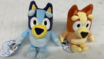 BLUEY TV CARTOON  BLUEY AND BINGO  8-INCH PLUSH TOYS REAL GENUINE BLUEY IN HAND