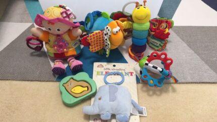 Developmental toy bundle for bub (Lamaze, Playgro, Le Toy Van)