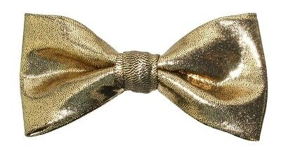 New Shiny Gold-Clip On Bow Tie - Men's or Boys Bowtie  Boys Bow Tie