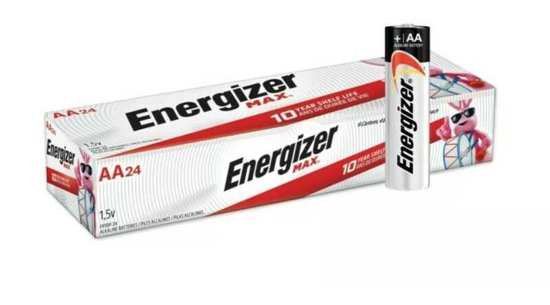 24 Pack Energizer Max AA Batteries Exp 2030