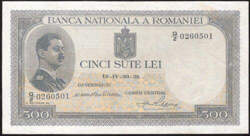 ROMANIA 500 LEI 1936 P:42a VF