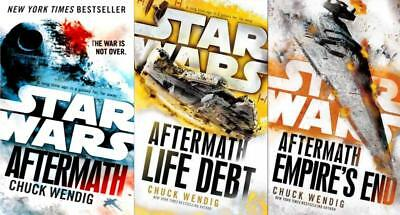 The Star Wars AFTERMATH Trilogy Series Collection Set Books 1-3 by Chuck Wendig