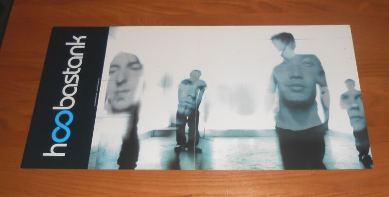 Hoobastank Crawling in the Dark Promo 2-Sided Flat Square Poster 24x12
