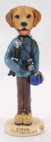 Dog Photographer figurine, Golden Retriever