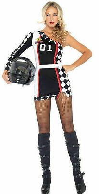 Halloween Women 2 PC First Place Racer Costume 83944 Mortor Sports SZ ML (Costumes Places)