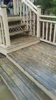 Stair case and deck re-finishing