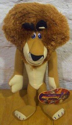 """Madagascar 3 ALEX THE LION 14"""" Plush Stuffed Animal NEW W/ TAG"""