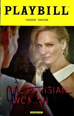 THE PARISIAN WOMAN In-person Signed Playbill by UMA THURMAN & JOSH LUCAS + 1