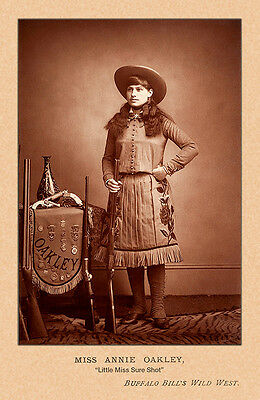ANNIE OAKLEY Old West  Legend Vintage Photograph A++ Reprint Cabinet Card