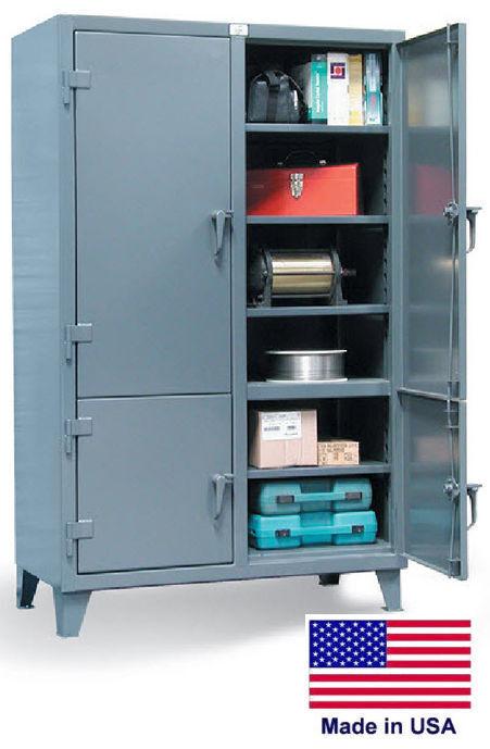 Storage Cabinet Commercial/indl - 12 Gauge Steel - 8 Shelves - Gray - 78x72x24