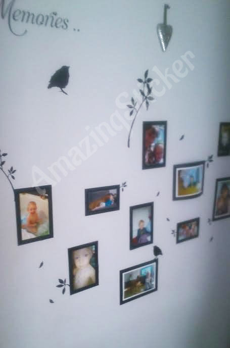 Multi Photo Frame Bird Tree Art Wall Quotes / Wall Stickers / Wall Decals