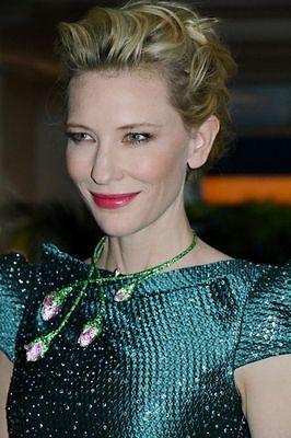 Cate Blanchett in Chopard Image via madame.lefigaro.fr