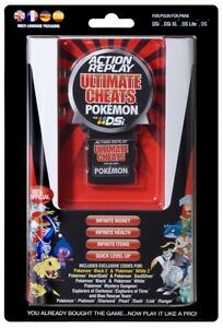 ACTION REPLAY ULTIMATE CHEATS POKEMON FOR DSI DSLITE DS