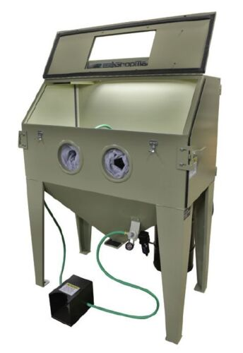 BLASTING CABINET WITH DUST COLLECTOR,  HEAVY DUTY 14 GAUGE STEEL # 28691