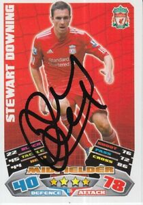 STEWART DOWNING HAND SIGNED LIVERPOOL 11/12 MATCH ATTAX CARD 2011/2012.