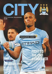 MAN-CITY-v-WEST-HAM-2013-14-MINT-PROGRAMME-2014-MANCHESTER