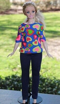 Clothes for Curvy Barbie Doll. Shirt