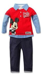 NWT- 6-12 Months- Mickey Mouse Long Sleeved Tee & Pant Set