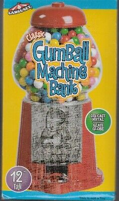 "Carousel Classic Gmball Machine Bank 12"" - Metal and Glass - NEW in Box"