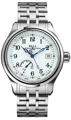 NM1056D-S1J-WH | Name brand NEW BALL WATCHES MEN'S TRAINMASTER AUTOMATIC CASUAL WATCH