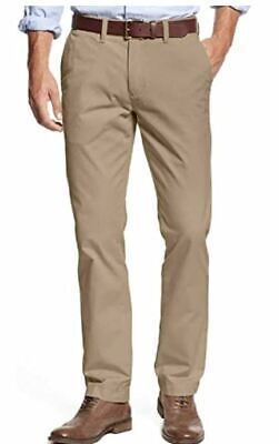 Tommy Hilfiger Tailored Fit Chino Pants Mens Stretch 34x34 Mallet Beige NEW