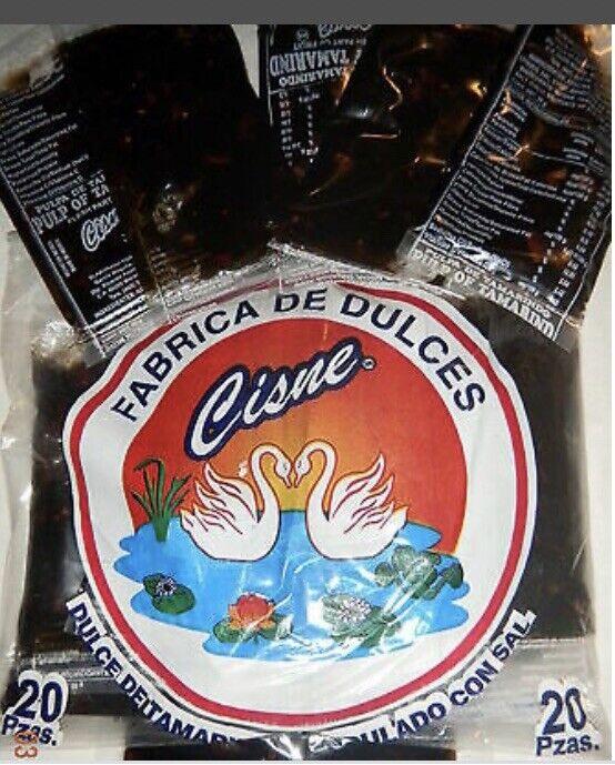 CISNE PULPA DE TAMARINDO 20ct, Tamarind Pulp Mexican Candy, FREE SHIPPING!!