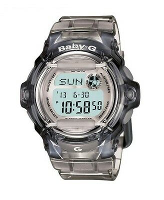 Casio BABY-G BG169R-8 Whale Series Women's Clear Gray Resin Digital Watch