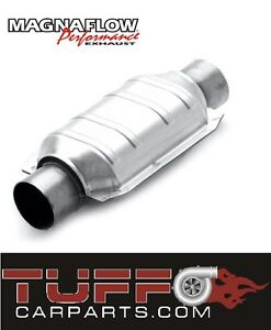 MAGNAFLOW-2-5-INCH-200-CELL-CPSI-METAL-CORE-OVAL-BODY-CATALYTIC-CONVERTER