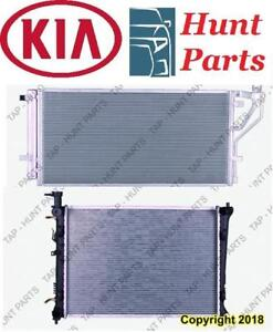 All KIA AC compressor Condenser Radiator Support Fan Cooling Compresseur AC Condenseur Radiateur Support Ventilateur