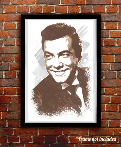 MARIO LANZA watercolor painting art print/poster FREE S&H!